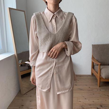 《予約販売》glossy lady  shirt/2colors_nt0557
