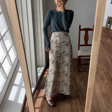 《予約販売》floral long skirt/2colors_ns0046