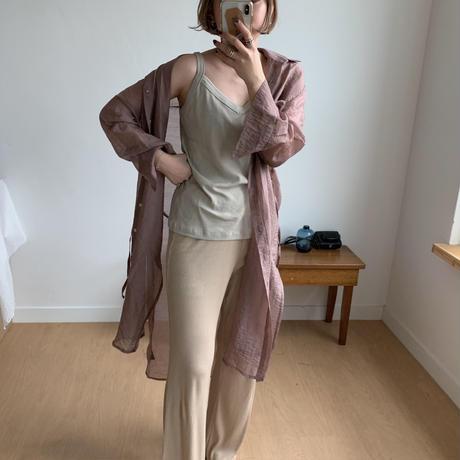 *予約販売*sheer long gown/2colors_nb0017
