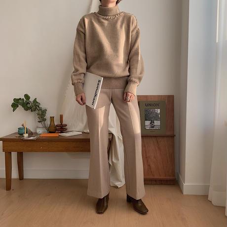 ✳︎予約販売✳︎stretch slit slacks pants/2colors_np0118