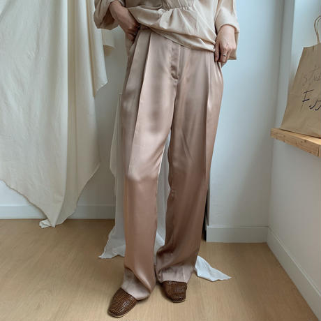 ✳︎予約販売✳︎satin slacks/2colors_np0039