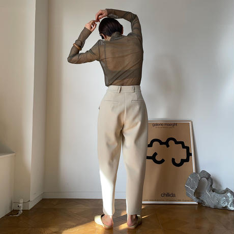 【nokcha original】three bottan pants/ivory_np0344