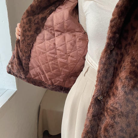 《予約販売》leopard fur jacket/2colors_no0123