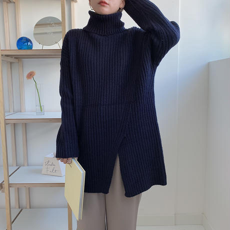 ✳︎予約販売✳︎slit middle knit/2colors_nt0199
