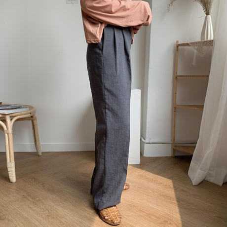 《予約販売》straight long pants/2colors_np0057