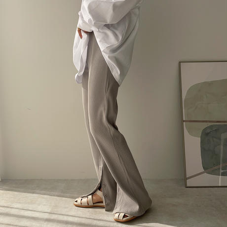 《予約販売》slit bottan pants/2colors_np0361