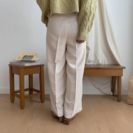 ✳︎予約販売✳︎waist marc tuck pants/2colors_np0095