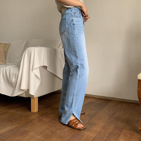 《予約販売》wasing slit denim_nj0016