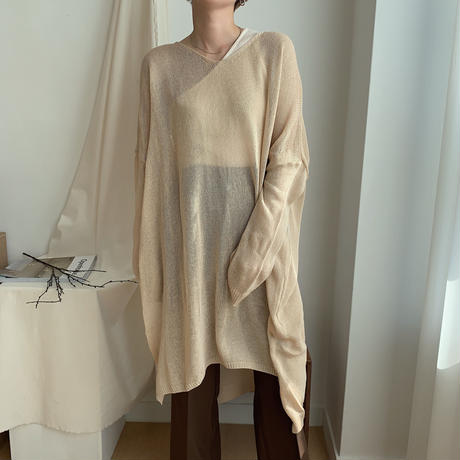 《予約販売》s/s slit knit/2colors_nt0328