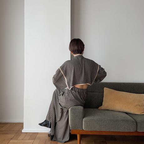 【nokcha original】geometric back open ops/black_nd0094