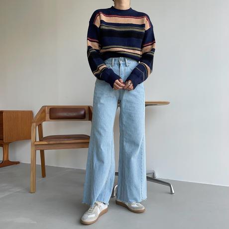 《予約販売》mulch color knit/2colors_nt1105
