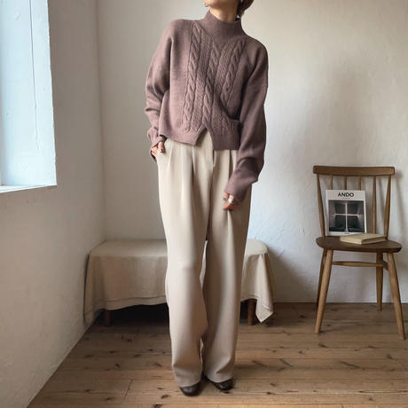 《予約販売》minimal cable knit/2colors_nt0728