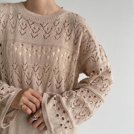 《予約販売》punching knit ops_nd0110