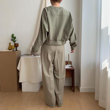【nokcha original】stitch mtm/khaki_nt0326