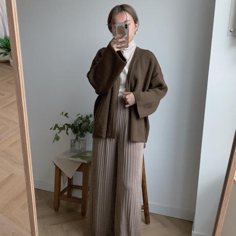 ✳︎予約販売✳︎minmal knit gown/2colors_no0015