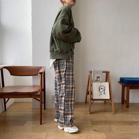 《予約販売》check easy pants_np0305