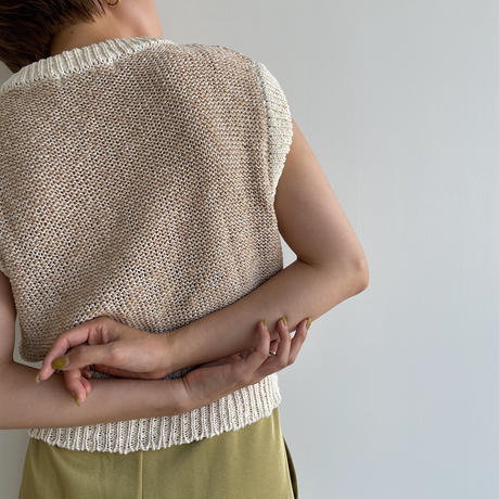 《予約販売》bi-color knit vest_nt1049