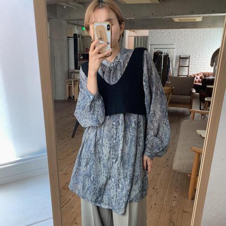 《予約販売》python sheer blouse/2colors_nt0543