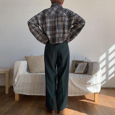 《予約販売》check croped shirt/2colors_nt0670