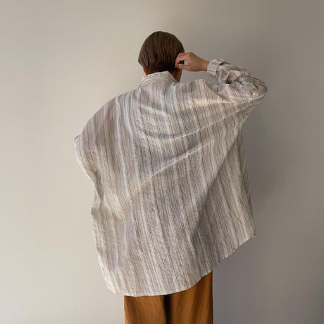 《予約販売》mulch stripe over shirt/2colors_nt0933