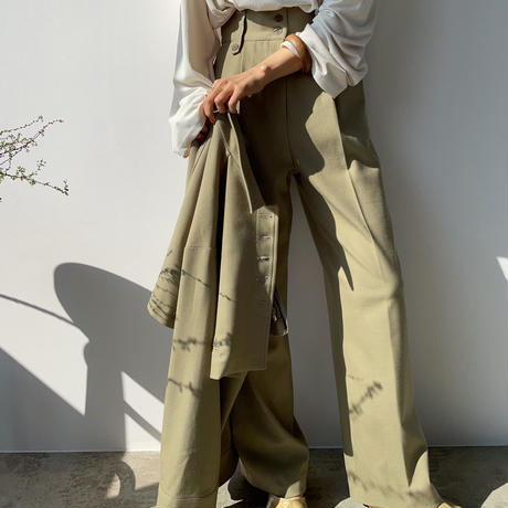 【nokcha original】straight long pants/pistàcchio_np0341