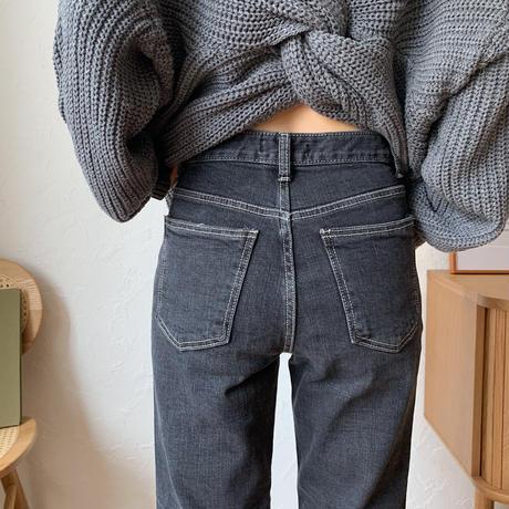《予約販売》slit black jeans_np0282
