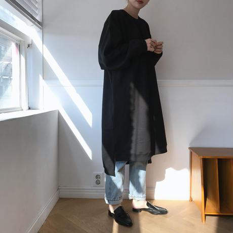 スウェットワンピース/ブラック