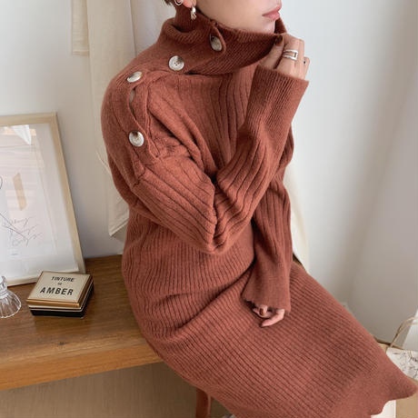 ✳︎予約販売✳︎bottan lady knit ops/2colors_nd0026