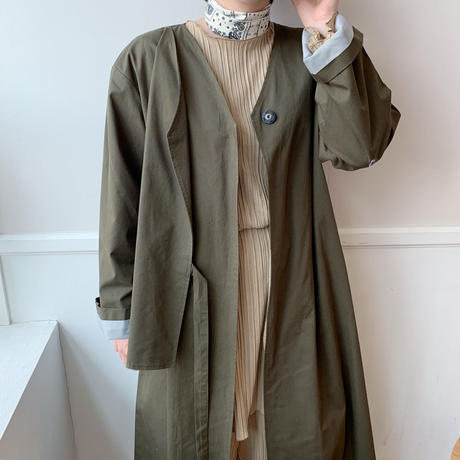 *予約販売*no-collar trenchcoat/2colors