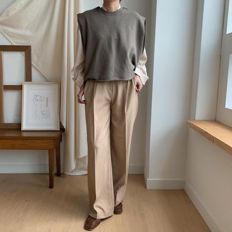 【NOKCHA original】minimal vest/khaki_nt0068