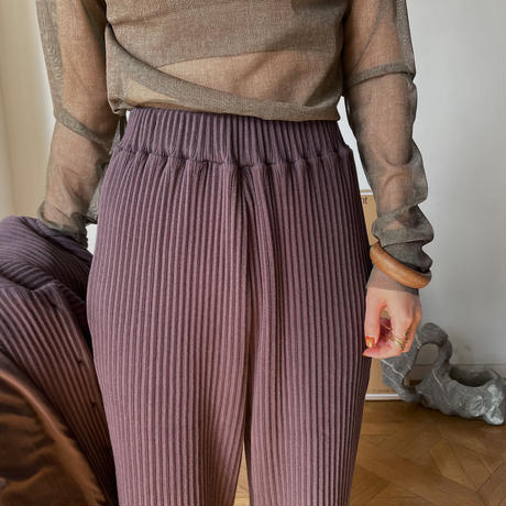【nokcha original】slit lib pants/deep purple_np0343
