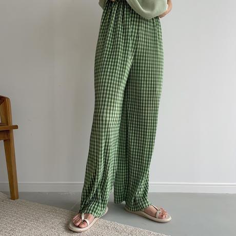 《予約販売》green check pants_np0430