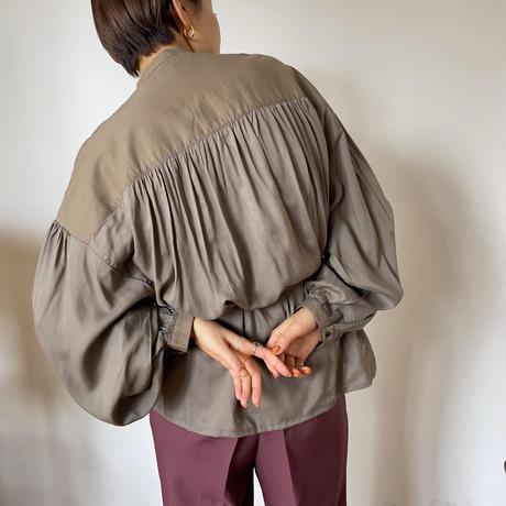 【nokcha original】2way volume blouse/ moca_nt0842