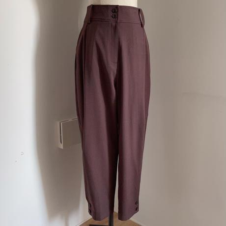 【nokcha original】tuck color pants/purple_np0347