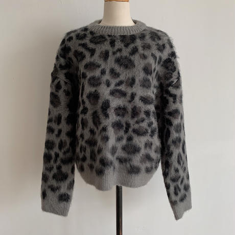 ✳︎予約販売✳︎leopard gray knit_nt0179