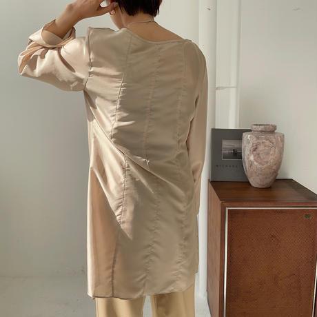 《予約販売》satin sheer blouse/2colors_nt0854