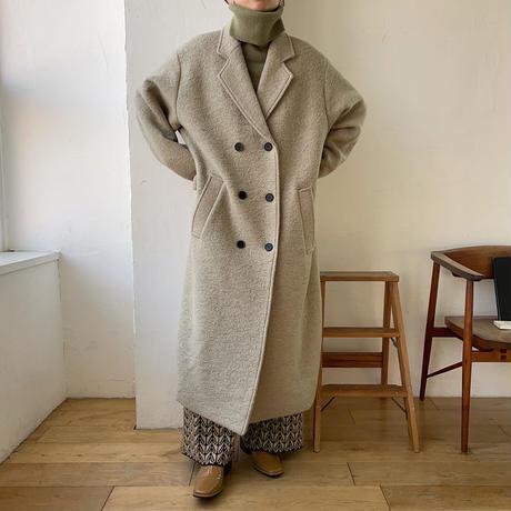《予約販売》double over long coat/2colors_no0134