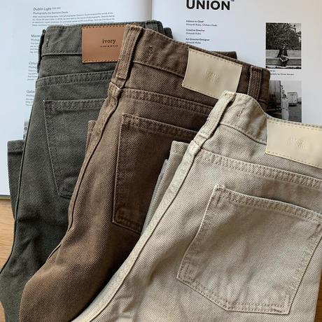 《予約販売》twill color jeans/3colors_np0260