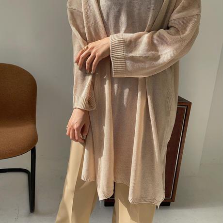《予約販売》side slit mesh knit/2colors_nt0868