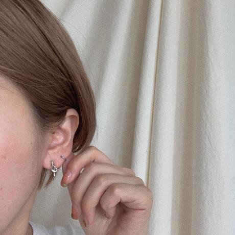 ✳︎予約販売✳︎silver925  braid mini pierce_na0073