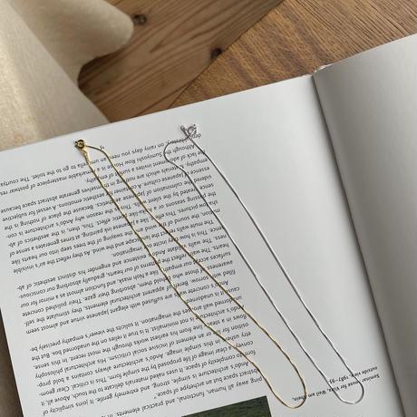 《予約販売》silver925 thin natural necklace/2colors_na0252