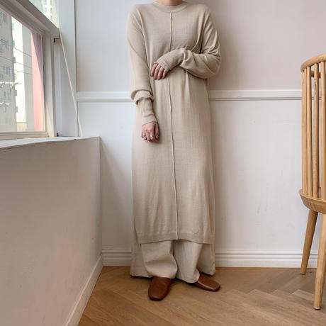 ✳︎予約販売✳︎long slit knit/2colors