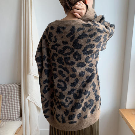 ✳︎予約販売✳︎leopard knit pullover/2colors_nt0143