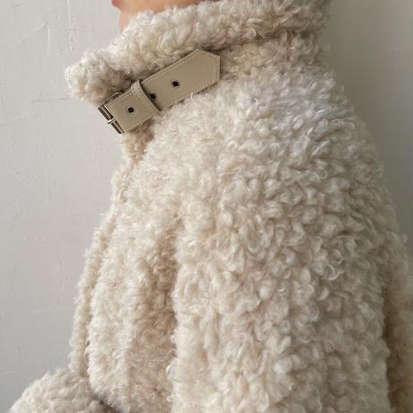 《予約販売》2way poodle coat/2colors_no0133