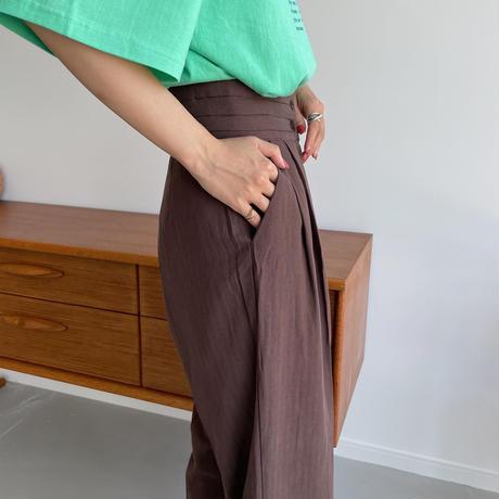 《予約販売》pleats waist pants/2colors_np0407