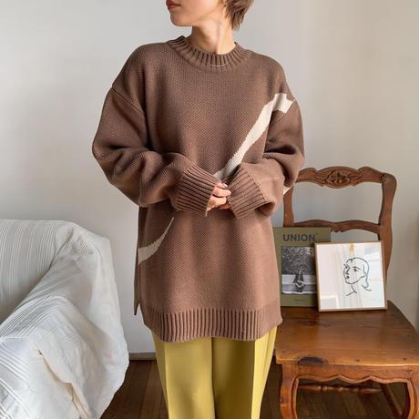 《予約販売》unisex unique line knit_nt0677