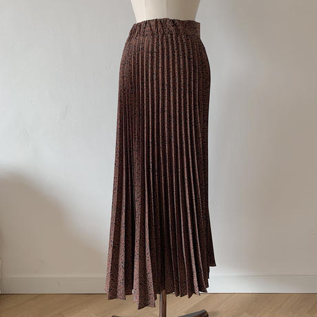 ✳︎予約販売✳︎leopard pleats skirt/2colors_ns0019