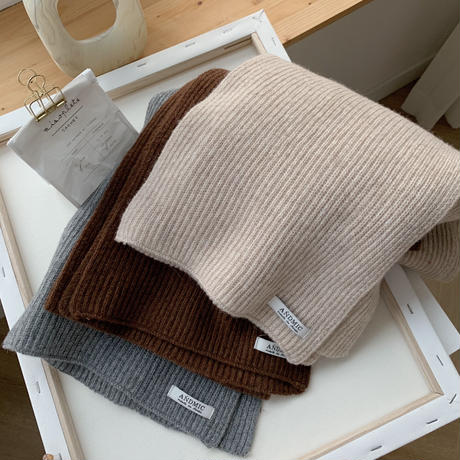 ✳︎予約販売✳︎daily knit muffler/3colors_na0103