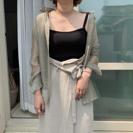 ✳︎予約販売✳︎sheer loose shirt/2colors_nb0011