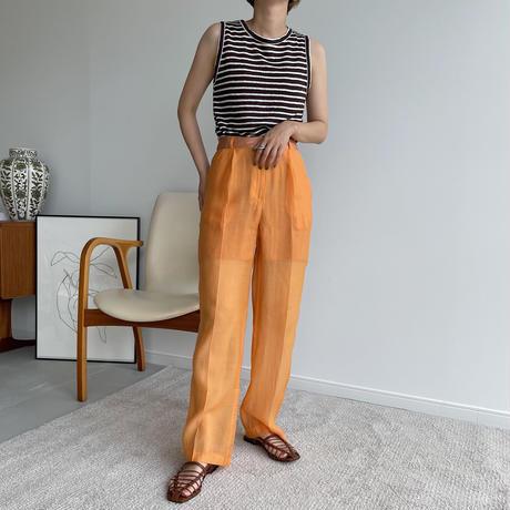 【nokcha original】quality sheer pants/light orange_np0416